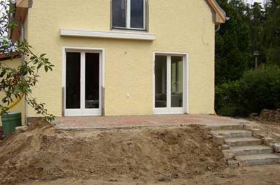 Terrasse Mosaik Klinker Treppe