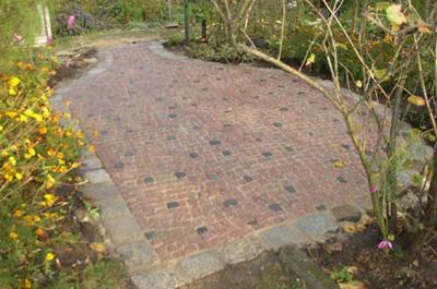 Sitzplatz Zehlendorf Mosaik, indisch rot, Tefrit