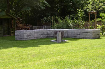 Mauer Granitstielen Pankow